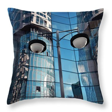 Sound Of Glass Throw Pillow