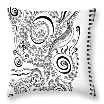 Sound Of The Lines Throw Pillow