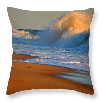 Sound Of The Surf Throw Pillow by Dianne Cowen