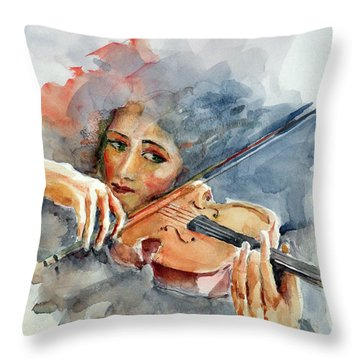 Sound Of Violin... Throw Pillow