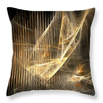 Sound Waves In 3d Throw Pillow