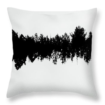 Sound Waves Made Of Trees Reflected Throw Pillow