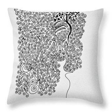 Soundless Whisper Throw Pillow