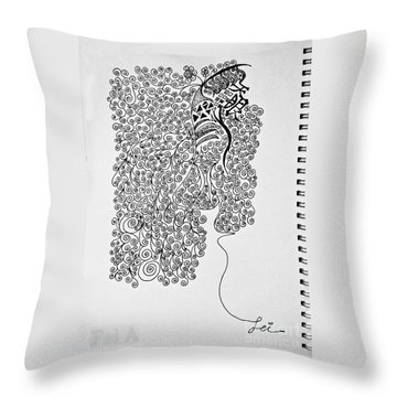 Soundless Whisper Throw Pillow
