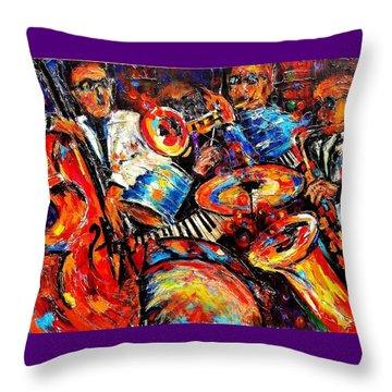 Sounds Of Jazz Throw Pillow