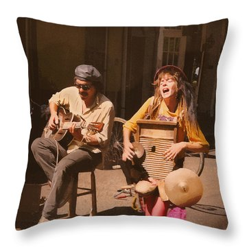 Sounds Of New Orleans Throw Pillow