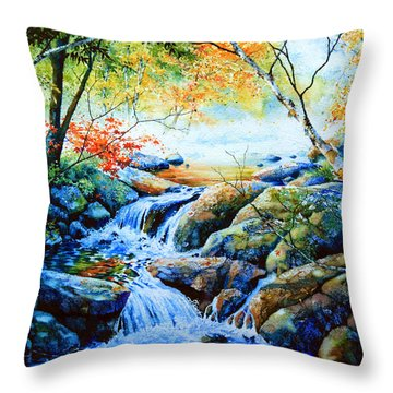 Sounds Of Silence Throw Pillow by Hanne Lore Koehler