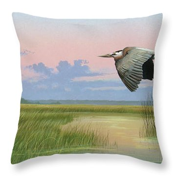 Sounds Of Silence Throw Pillow