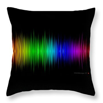Soundscape 17 Throw Pillow