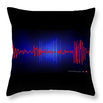 Soundscape 26 Throw Pillow