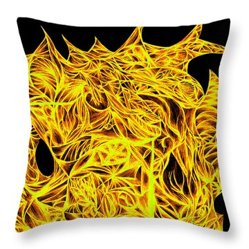 Throw Pillow featuring the drawing Sour Desire by Jamie Lynn