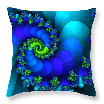 Source Of Life Throw Pillow by Jutta Maria Pusl