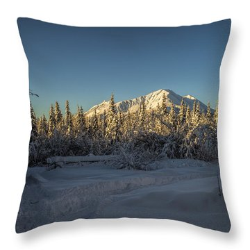 Sourdough Peak Throw Pillow
