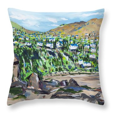 South African Coastline Part One Throw Pillow