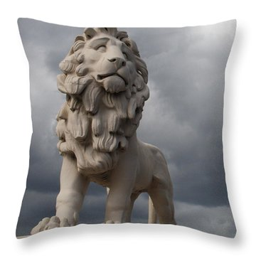 South Bank Lion.  Throw Pillow