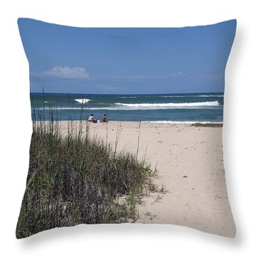 South Beach Throw Pillow by Allan  Hughes