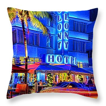South Beach Art Deco Throw Pillow by Dennis Cox WorldViews