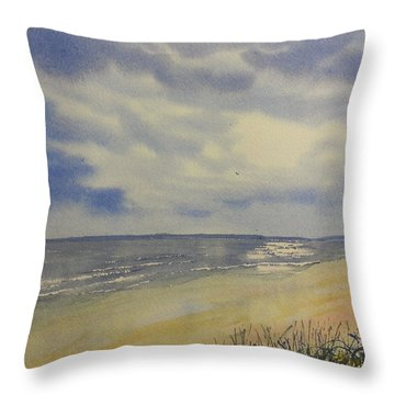 South Beach From The Dunes Throw Pillow