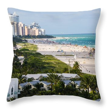 South Beach Late Afternoon Throw Pillow