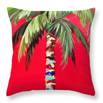 South Beach Palm II Throw Pillow