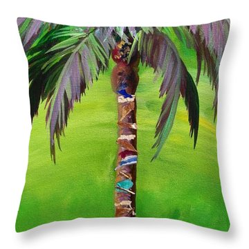 South Beach Palm IIi Throw Pillow