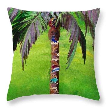 South Beach Palm IIi Throw Pillow by Kristen Abrahamson