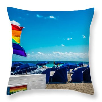 South Beach Pride Throw Pillow