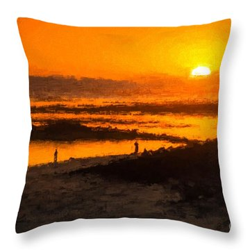 South Beach Sunset    Rvr Throw Pillow