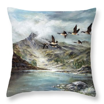 South Before Winter Throw Pillow by David Jansen