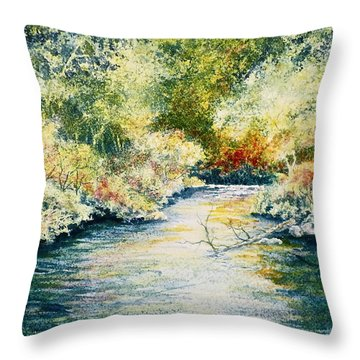 Throw Pillow featuring the painting South Branch Of The Little Wolf by Carolyn Rosenberger