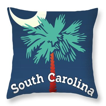 South Carolina Palmetto Throw Pillow