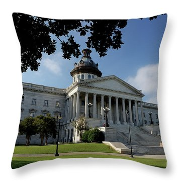 South Carolina State House 2 Throw Pillow