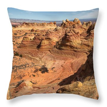 South Coyote Buttes Throw Pillow by Farol Tomson