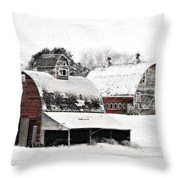 South Dakota Farm Throw Pillow