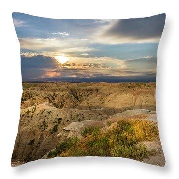 South Dakota Sunrise Throw Pillow