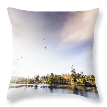 Throw Pillow featuring the photograph South-east Tasmania River Landscape by Jorgo Photography - Wall Art Gallery