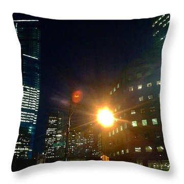 South End Ave Nyc Throw Pillow