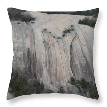 South Face - Stone Mountain Throw Pillow