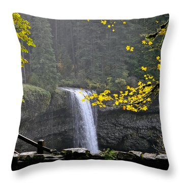 South Falls Of Silver Creek Throw Pillow