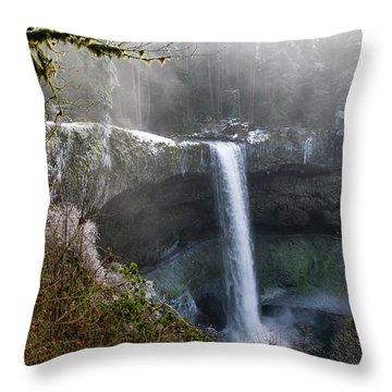 South Falls Shroud Throw Pillow