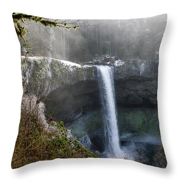 South Falls Shroud Throw Pillow