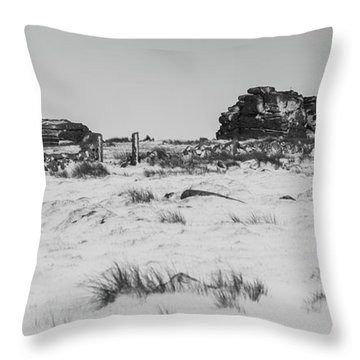 South Hessary Tor In The Snow Throw Pillow