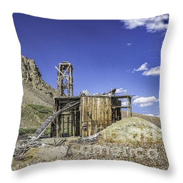 Throw Pillow featuring the photograph South London Mine by Bitter Buffalo Photography