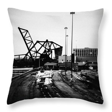 South Loop Railroad Bridge Throw Pillow