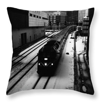 South Loop Railroad Throw Pillow