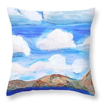 South Morro Bay View To North Throw Pillow