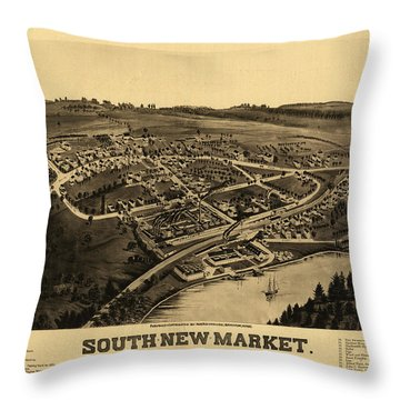 South-new-market, Rockingham County, N.h. Throw Pillow
