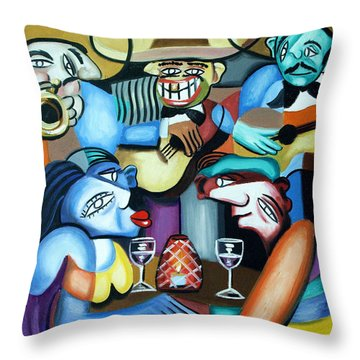 South Of The Boarder Throw Pillow by Anthony Falbo