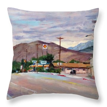 South On Route 395, Big Pine, California Throw Pillow