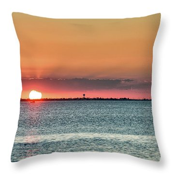 South Padre Island Sunset Throw Pillow